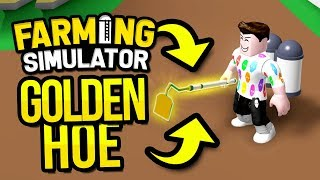 BUYING THE GOLDEN HOE in ROBLOX FARMING SIMULATOR