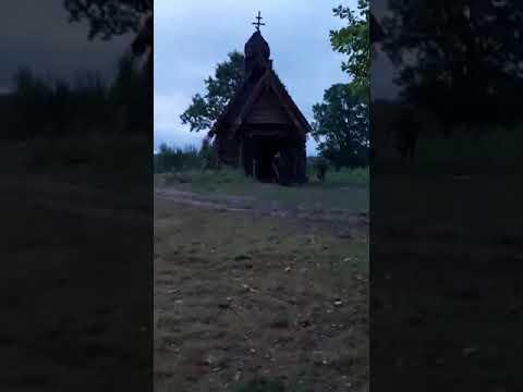 На съёмке фильма Сергея Гинзбурга -Собор.