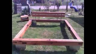 Balkenbett Altholz part 1 / Beam-bedded / waste wood oak furniture