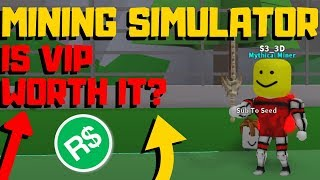 Roblox: Mining Simulator | Is VIP Worth It? (VIP Gamepass Review)