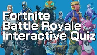 Fortnite Battle Royale | Interactive Quiz