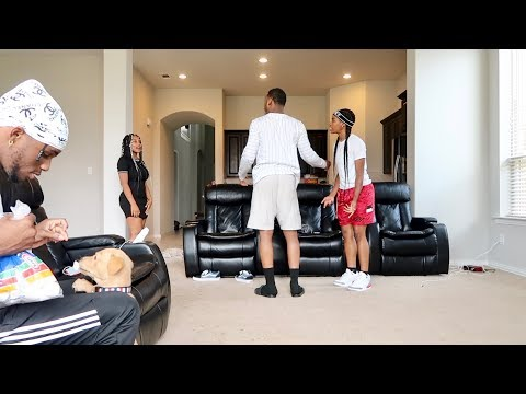 """MY EX USE TO DO THAT"" IN FRONT OF COMPANY PRANK!!! FT. AR'MON AND TREY"