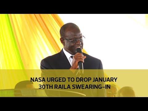 Nasa urged to drop January 30th Raila swearing-in