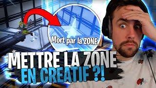 INCROYABLE MAP !!! On peut mettre la Zone en mode Créatif sur Fortnite pour un Mode Parcours Zone !