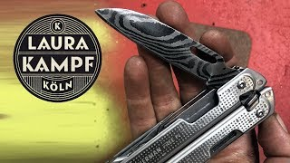 I forged a Damascus Blade for my Leatherman (with HABU)