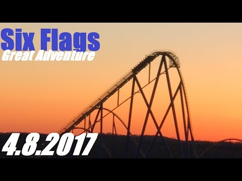 Six Flags Great Adventure Vlog - 4.8.2017