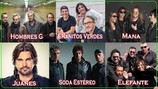 Hombres G, Soda Estéreo, Enanitos Verdes, Mana, Jaguares, Elefante, Juanes Rock En Español