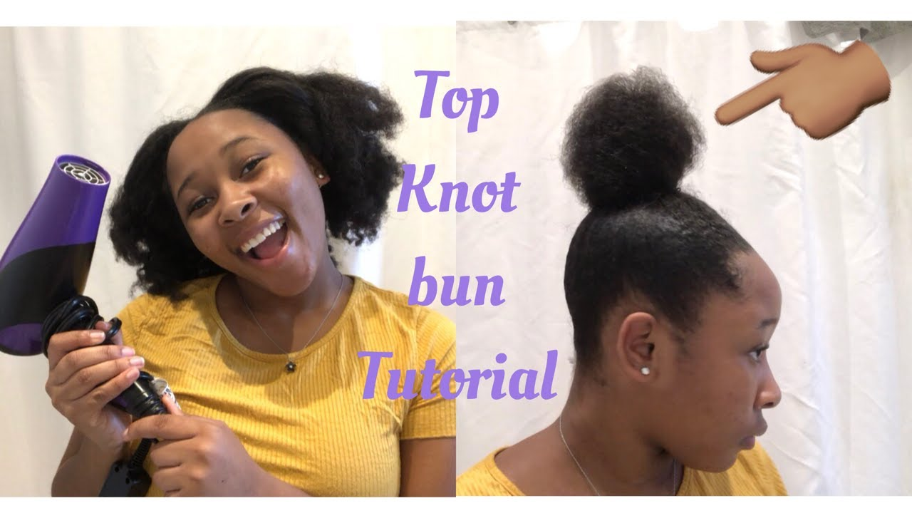TOP KNOT TUTORIAL! NINJA BUN TUTORIAL| HOW TO DO THE PERFECT TOP KNOT/NINJA BUN