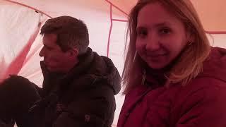 9 января - палатка с печкой