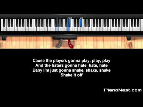 Taylor Swift - Shake it Off - HIGHER Key (Piano Karaoke / Sing Along)