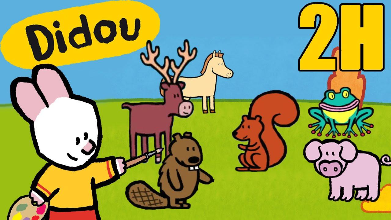 2 heures de Didou, didou dessine-moi les animaux de la forêt ...