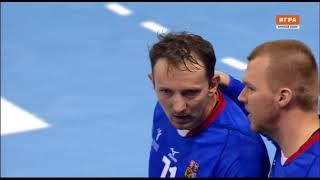 Штохль заносит мяч в ворота в матче Чехия - Россия