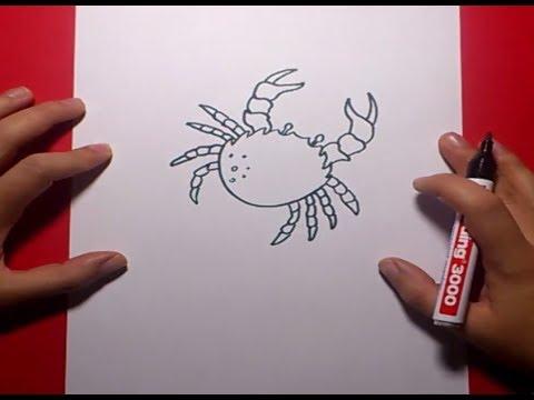 Como dibujar un cangrejo paso a paso 2 | How to draw a crab 2 - YouTube
