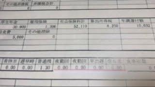 給与明細 三菱倉庫の主任の並々ならぬ給料
