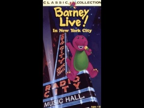 Opening To Barney Live In Concert 1996 Vhs Youtube
