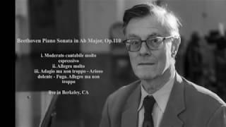 peter serkin beethoven sonata in a flat major op110 live score video