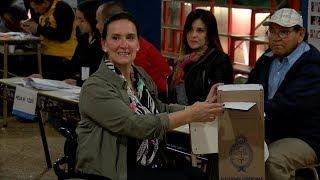 La vicepresidenta Gabriela Michetti votó en una escuela del barrio de Balvanera