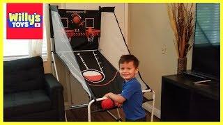Sportcraft Junior Portable Foldable Basketball Arcade Game w/ Carry Bag TOY REVIEW