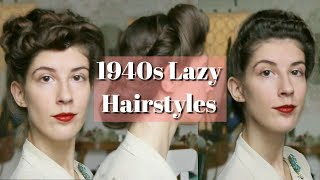 3 Vintage Hairstyles For When You're Too Lazy To Set/Curl Your Hair