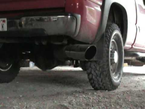 2003 Duramax 5 Quot Straight Pipe Exhaust Youtube
