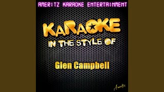 Rhinestone Cowboy Karaoke Version