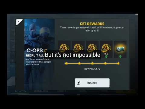 FREE 500 CREDITS AND A CASE | C-OPS friend recruit tutorial