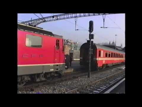 Trains around Zürich Switzerland Dec 1990
