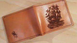 Making Laser Engraved Leather Wallets.