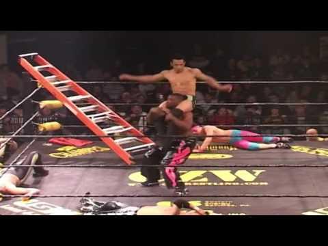 Chuck Taylor vs Ricochet vs Ryan McBride vs Pinkie Sanchez vs Spyral - CZW 9 F'N Years - Highlights