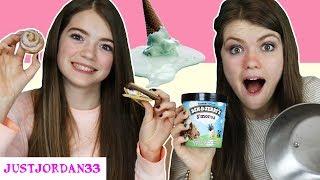 ICE CREAM vs REAL FOOD Switch Up Challenge / JustJordan33