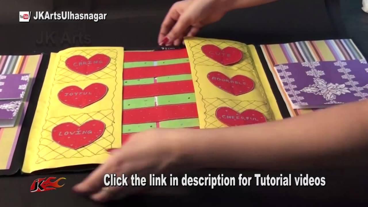 Scrapbook ideas tutorial - Multi Fold Scrapbook Idea Jk Craft Ideas 075