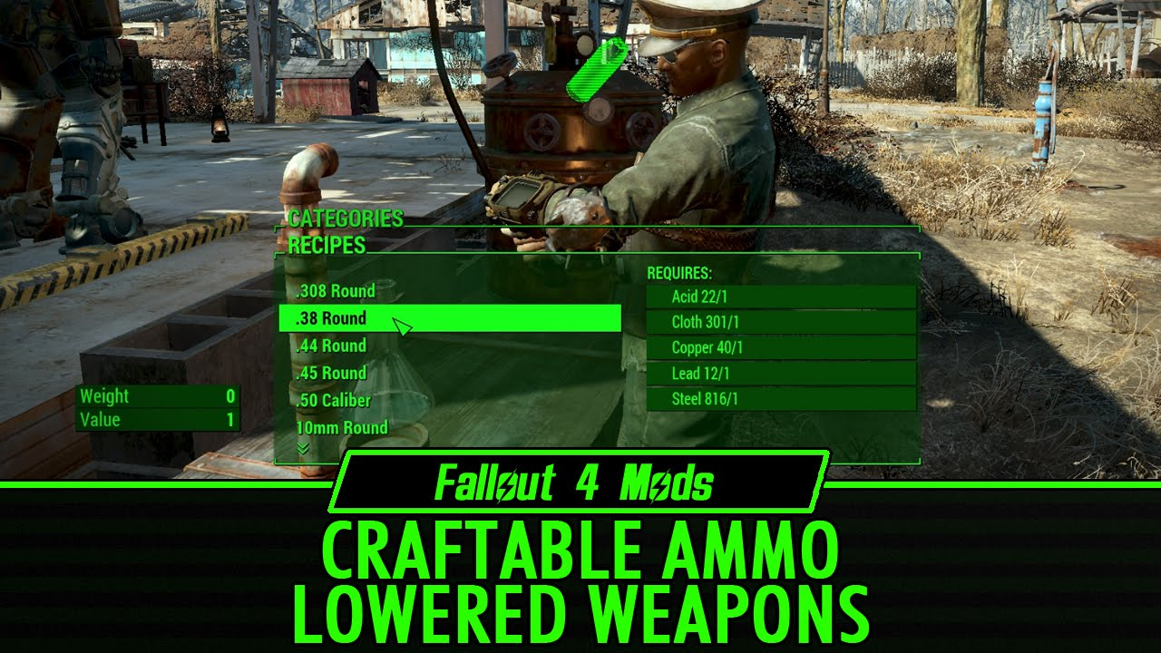 Fallout  Mods Crafting Ammo