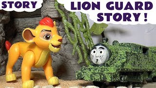 lion guard prank by thomas and friends tom moss with peppa pig toys and play doh family fun