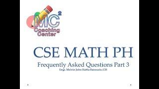 CIVIL SERVICE EXAM REVIEW MATH PH FAQs PART 3