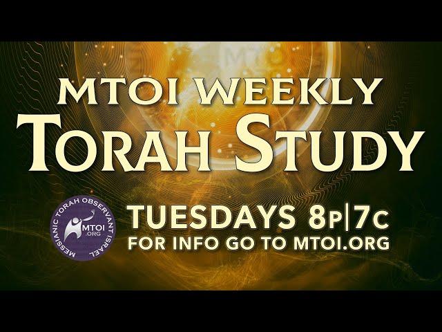 MTOI Weekly Torah Study - Matot - Masei (Numbers 30:1 - 36:13)