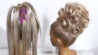 Свадебные прически 2020 Красивая Прическа на средние волосы Пошагово