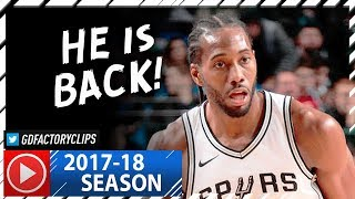 Kawhi Leonard RETURNS, Full Highlights vs Mavericks (2017.12.12) - 13 Pts, 6 Reb in 16 Min!