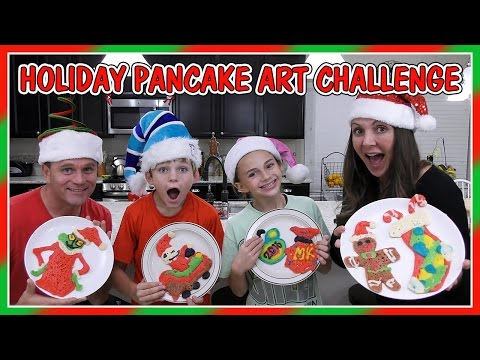 HOLIDAY PANCAKE ART CHALLENGE | We Are The Davises