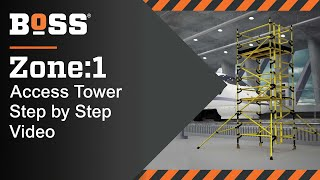 Setting up a BoSS Zone:1 Fibreglass Mobile Access Tower
