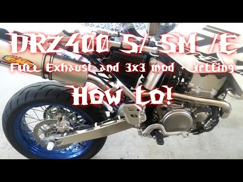 HOW TO: DRZ400 S / SM 3x3 Jetting and Exhaust - YouTube