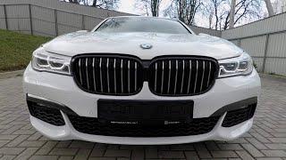 review car BMW 7 series G11, 2015.  Обзор авто БМВ 7 серия, 2015 г. Минск.