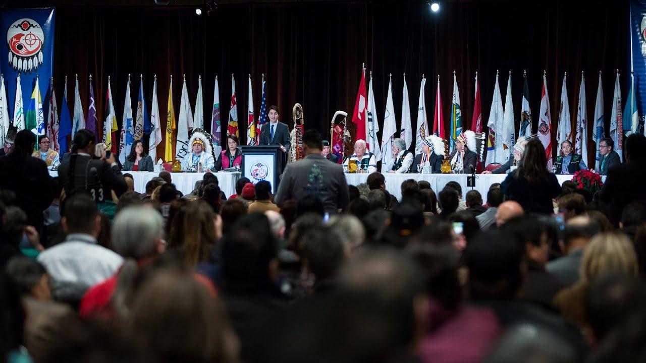 Le PM Justin Trudeau prononce un discours à l'Assemblée spéciale des chefs de l'APN