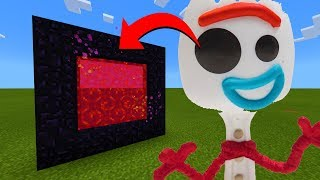 How To Make A Portal To The Toy Story 4 Forky Dimension in Minecraft!
