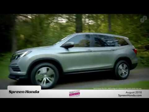 Spreen Honda - Honda Pilot Lease Special (August 2018)