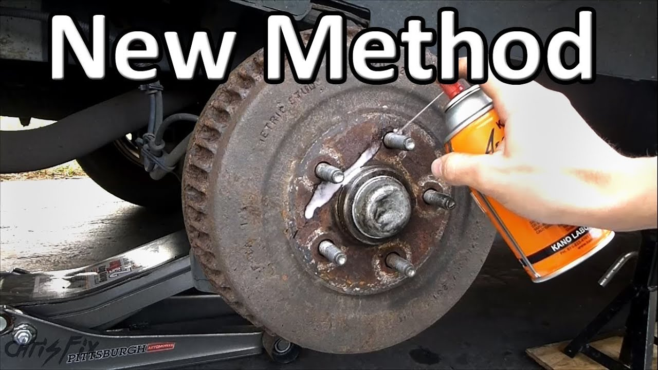 How to Remove a STUCK Drum Brake - YouTube