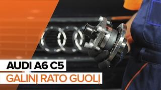 Peržiūrėkite vaizdo įrašo vadovą, kaip pakeisti AUDI A6 Avant (4B5, C5) Rato guolis