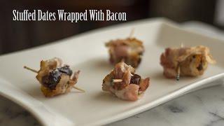 Feta Stuffed Dates With Bacon