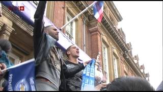 Leicester City Fans Line Streets for Victory Parade
