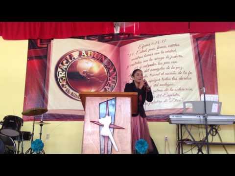 Eres hecho para cosas Grandes, Pastora Carmen Santos