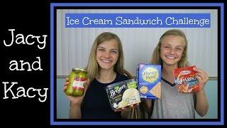 Ice Cream Sandwich Challenge ~ Jacy and Kacy